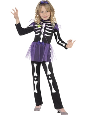 Skellie Punk Girl Childrens Costume