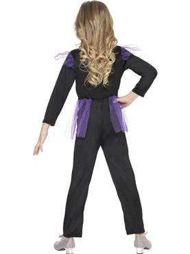 Child Skellie Punk Girl Costume - Back View
