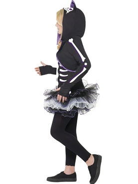 Child Skelly Cat Costume - Back View