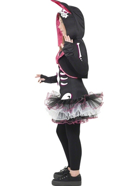 Child Skelly Rabbit Costume - Back View