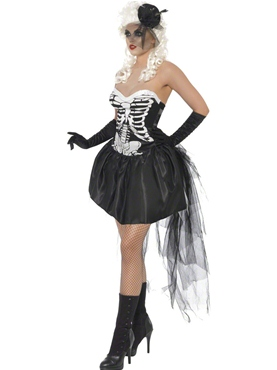 Adult Skelly Von Trap Costume - Back View