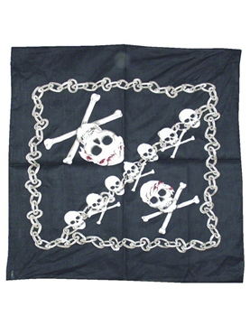 Skull And Crossbones Bandana - Back View