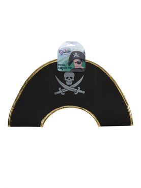 Skull And Crossbones Childrens Pirate Captains Hat - Back View