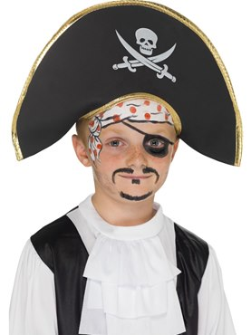 Skull And Crossbones Childrens Pirate Captains Hat