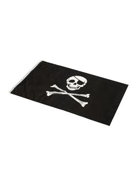 Skull & Crossbones Pirate Flag - Back View