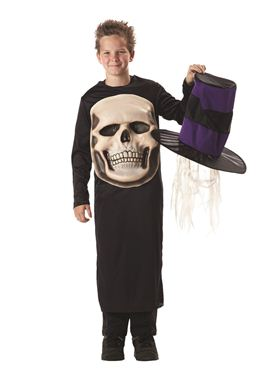 Child Skull Mad Hatter Costume - Back View