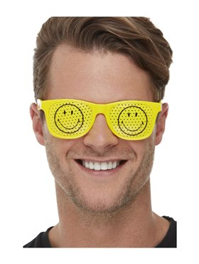 Smiley Rave Glasses - Back View