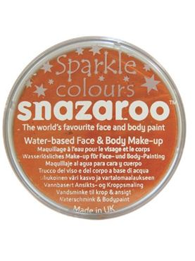 Snazaroo Sparkle Orange Face & Body Paint