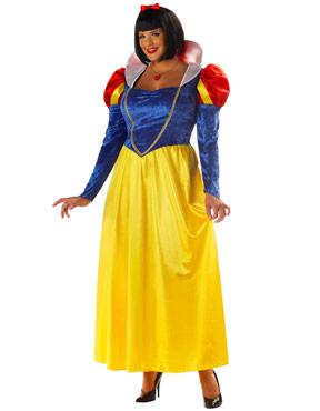Adult Plus Size Fairytale Snow Costume