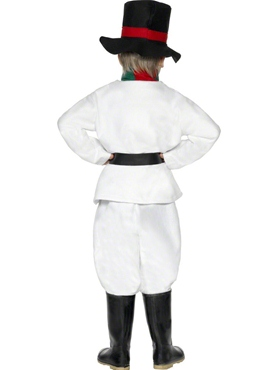 Child Snowman Costume - Back View