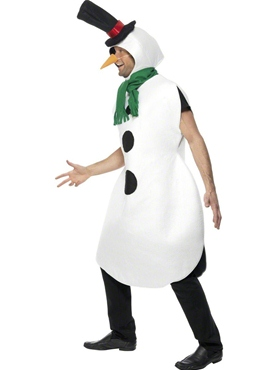 Adult Snowman Costume - Back View