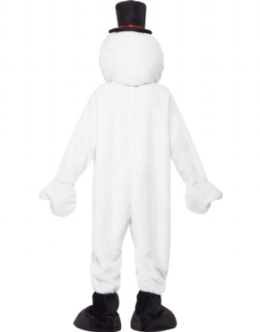 Adult Snowman Mascot Costume - Side View