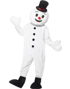 Adult Snowman Mascot Costume