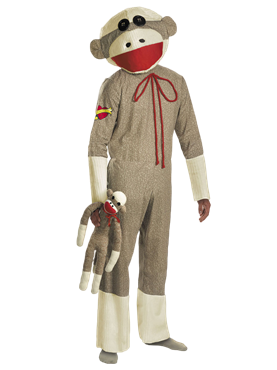 Adult Sock Monkey Costume Couples Costume