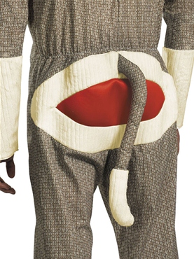 Adult Sock Monkey Costume - Back View