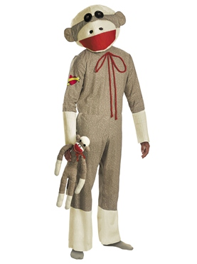 Adult Sock Monkey Costume Thumbnail