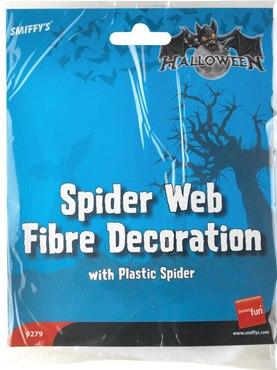 Spider Web Decoration White Fibre