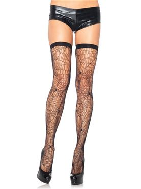 Adult Spider Web Thigh Highs