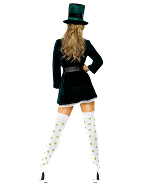 Adult Ladies St. Patricks Day Costume - Back View