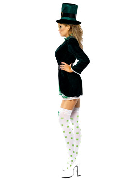 Adult Ladies St. Patricks Day Costume - Side View