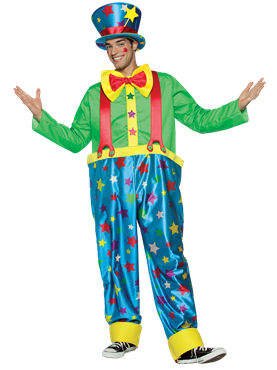 Adult Star Clown Adult Male Costume Couples Costume