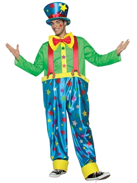 Adult Star Clown Adult Male Costume Thumbnail