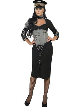 Adult Steam Punk Military Female Costume Thumbnail