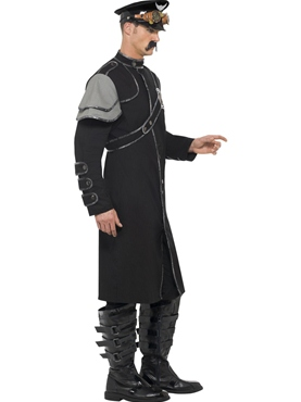 Adult Steam Punk Military Male Costume - Back View