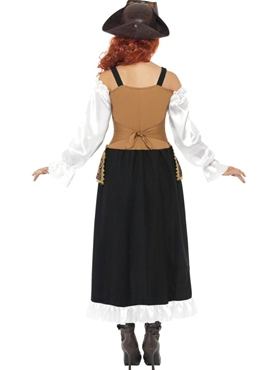 Adult Steam Punk Pirate Wench Costume - Side View