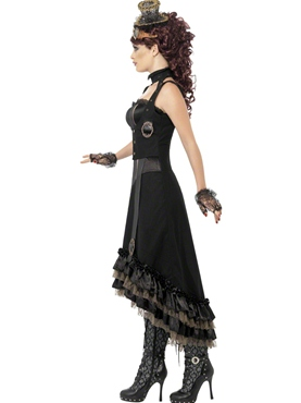 Adult Steam Punk Vamp Costume - Back View