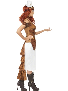 Adult Steam Punk Wild West Costume - Back View