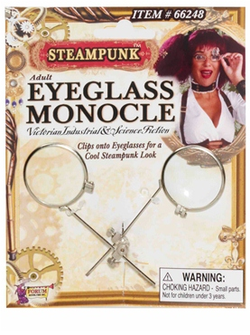 Steampunk Eyeglass Monocle Clip - Back View