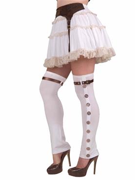 Steampunk Thigh High Ladies Spats