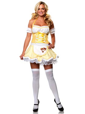 Goldilocks adult bear costume