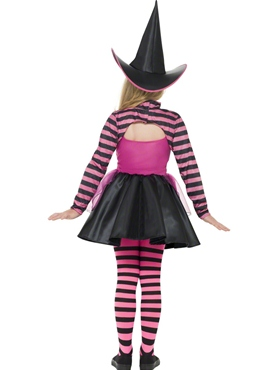 Child Stripe Dark Witch Costume - Side View