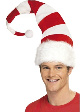 Striped Santa Hat - Back View
