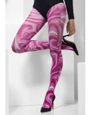 Pink Marble Tights