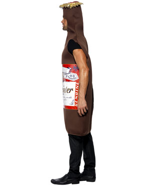 Adult Studmeister Beer Bottle Costume - Side View