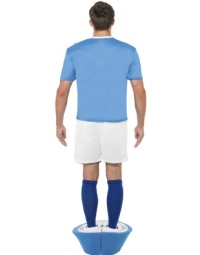 Adult Subbuteo Blue Strip Costume - Side View