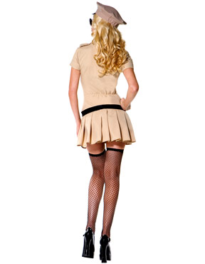 Adult Sultry Sheriff Costume - Back View