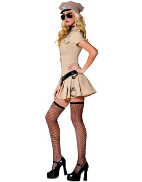 Adult Sultry Sheriff Costume - Side View