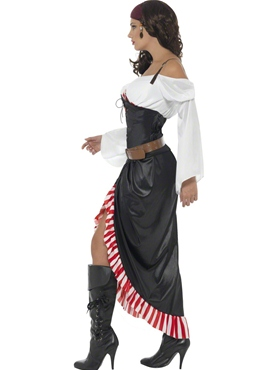 Adult Sultry Swashbuckler Costume - Back View