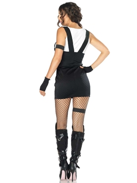 Adult Sultry SWAT Police Officer Costume - Back View