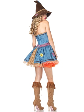 Adult Sunflower Scarecrow Costume - Back View
