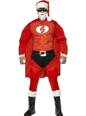 Adult Super Fit Santa Costume