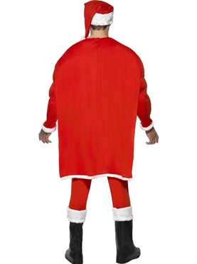 Adult Super Fit Santa Costume - Side View