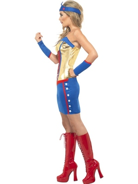 Adult Super Hot Hero Costume - Side View