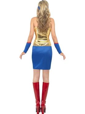 Adult Super Hot Hero Costume - Back View