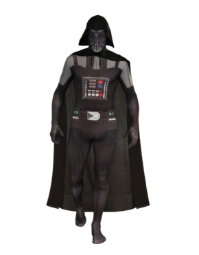 Adult Darth Vader Second Skin Suit Costume