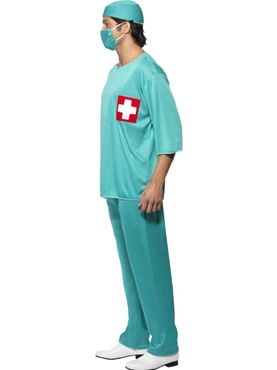 Adult Surgeons Costume - Back View